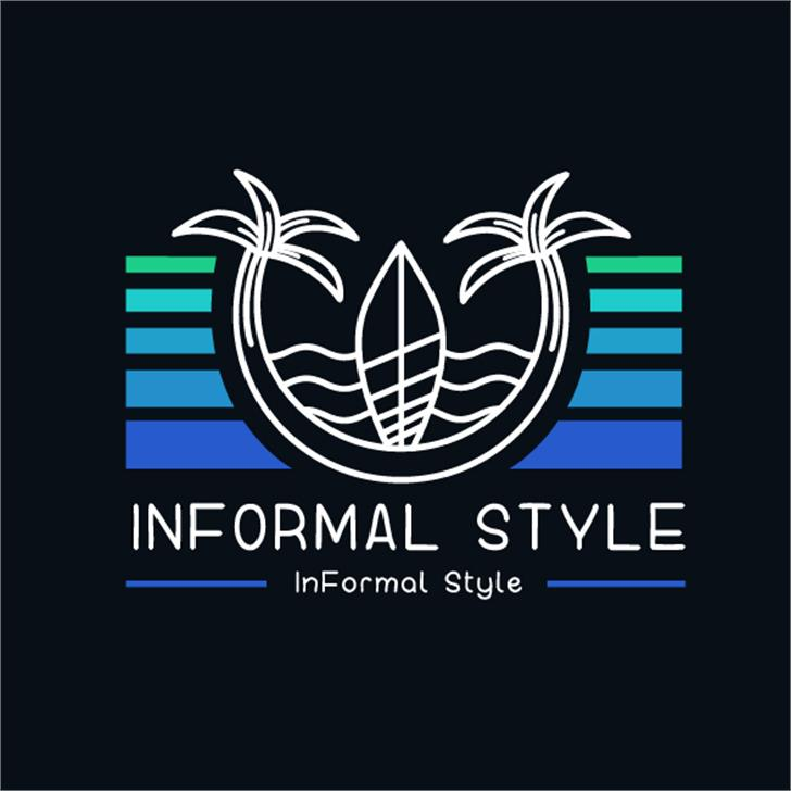 InFormal Style Font design graphic