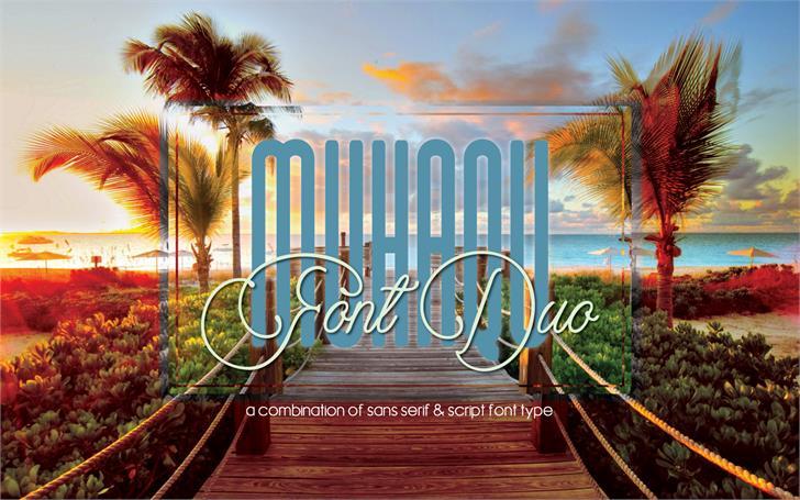 Muhaqu Font tree palm tree