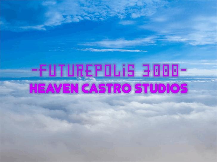 Futurepolis 3000 Font sky cloud