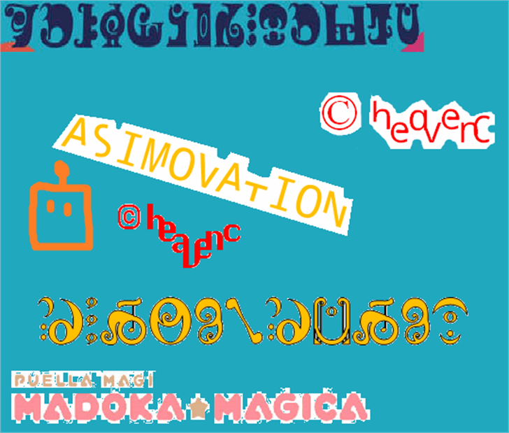 Asimovation Font screenshot graphic