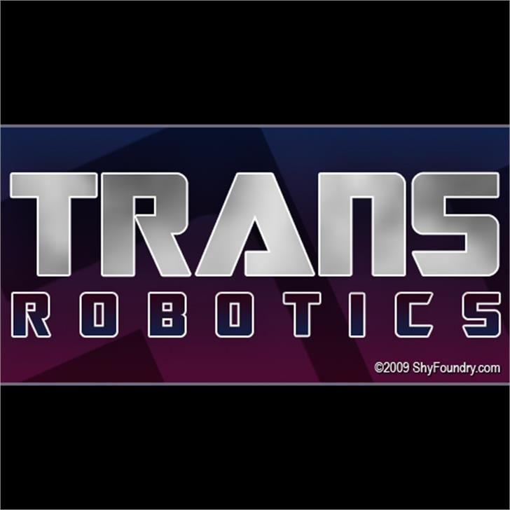 SF TransRobotics Font screenshot logo