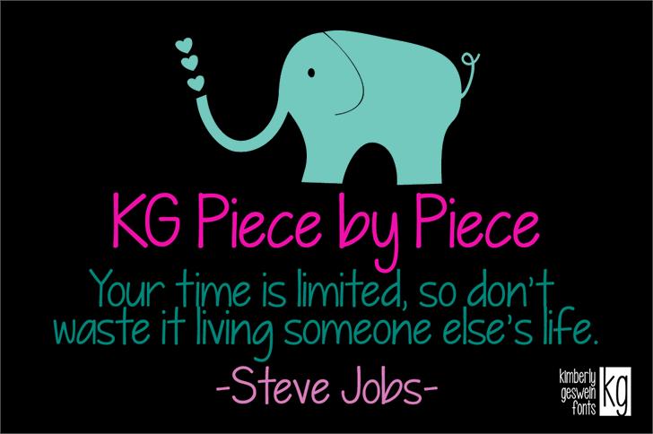 KG Piece by Piece Font cartoon design