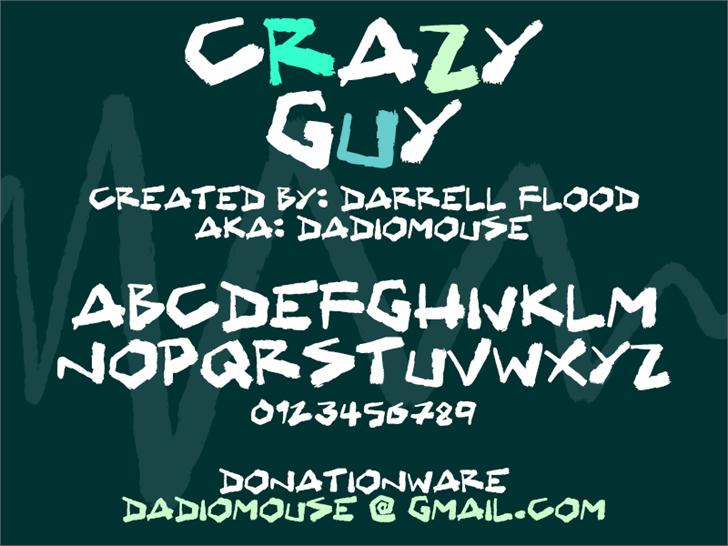 Crazy Guy Font design poster