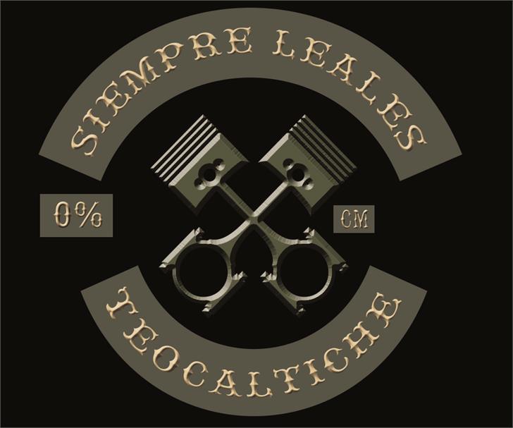 Rebel bones Font design screenshot
