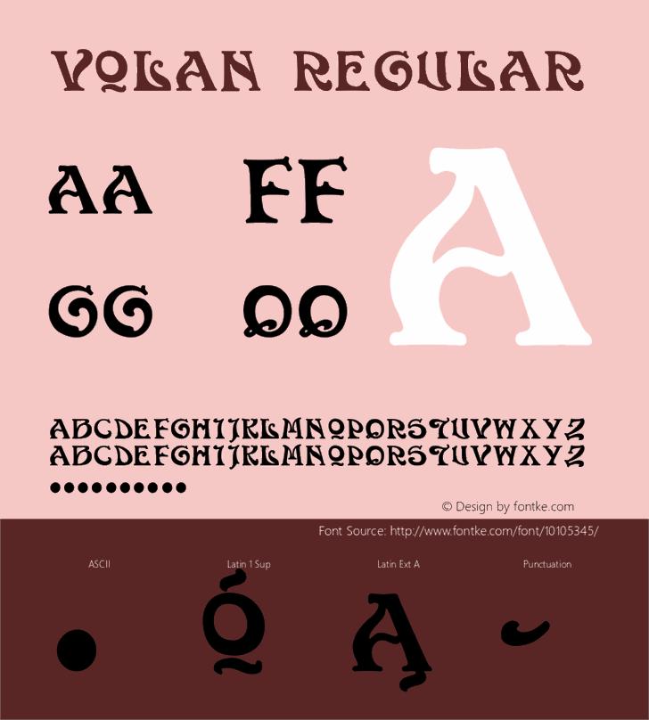 Volan Font design graphic