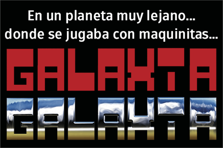 Galaxia Font screenshot design