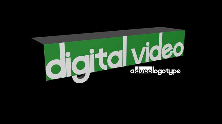 Digital Video Font screenshot design