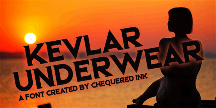 Kevlar Underwear font by Chequered Ink
