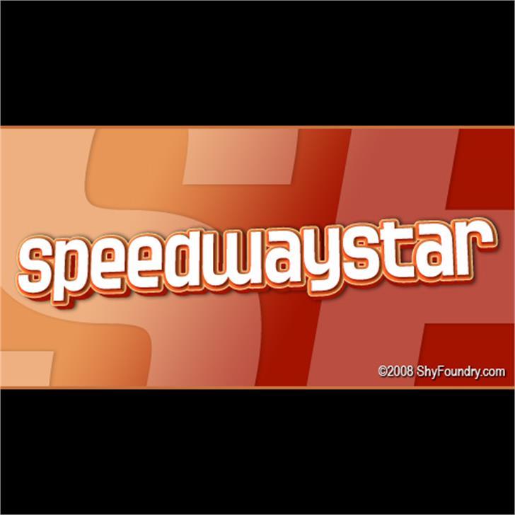 SF Speedwaystar Font text