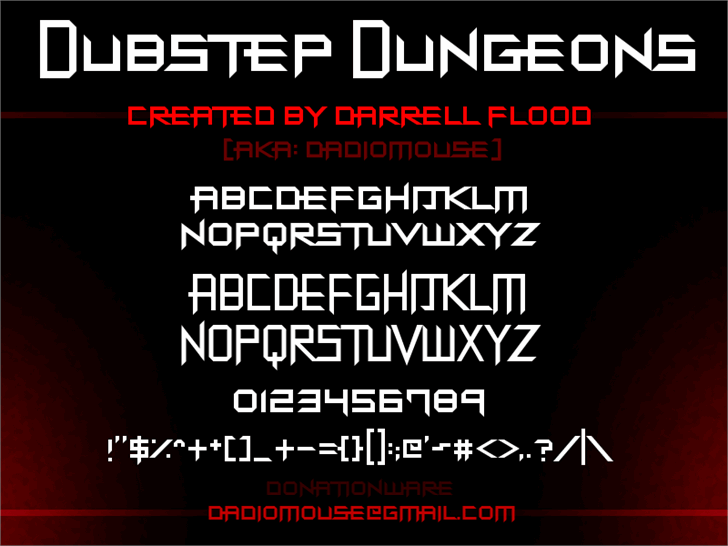 Dubstep Dungeons font by Darrell Flood
