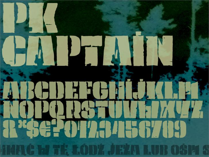 PK Captain Font poster painting