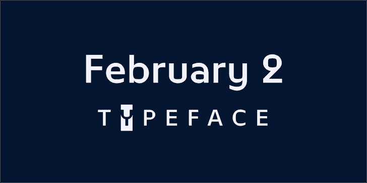 February 2 Font screenshot design