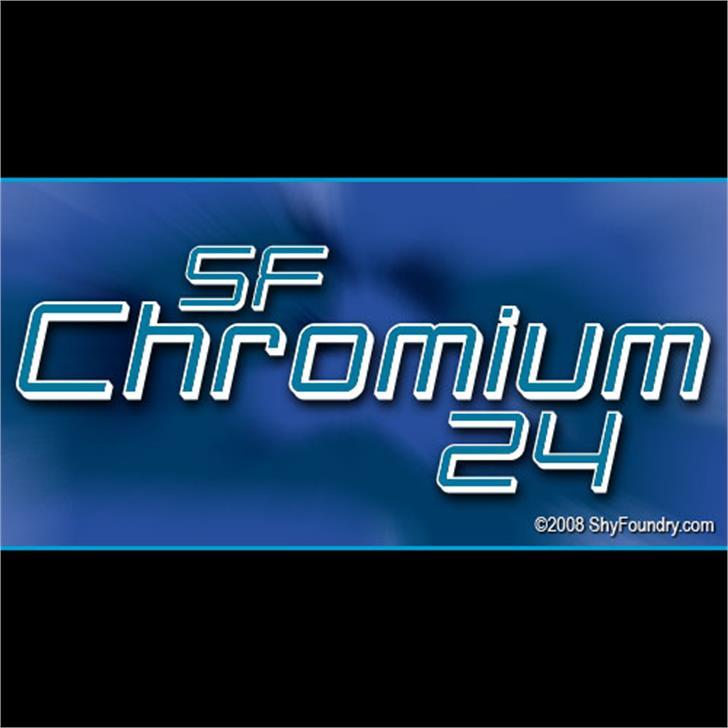 SF Chromium 24 Font screenshot text