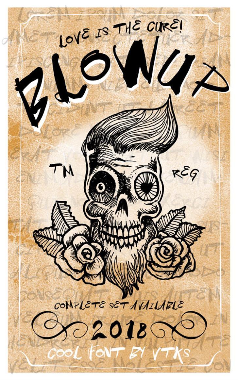 Vtks BlowUp Font text book