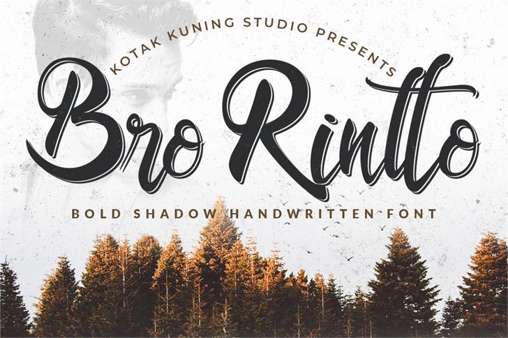 Bro Rintto Font handwriting typography