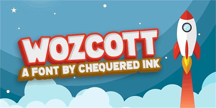 Wozcott Font rocket