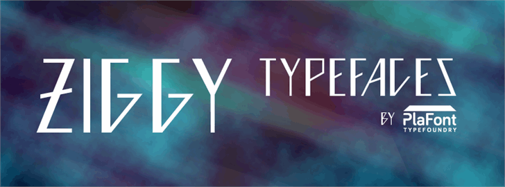 Ziggy Font screenshot design