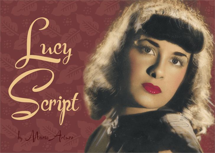 Lucy Script font by Mario Arturo