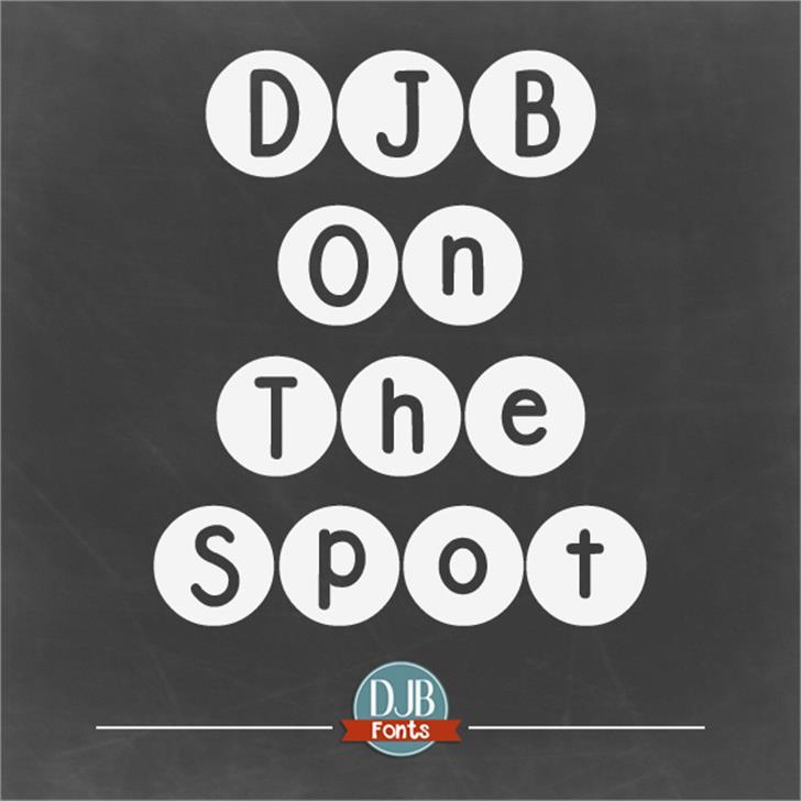 DJB On the Spot Font screenshot poster