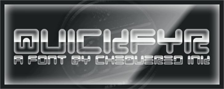Quickfyr Font screenshot design