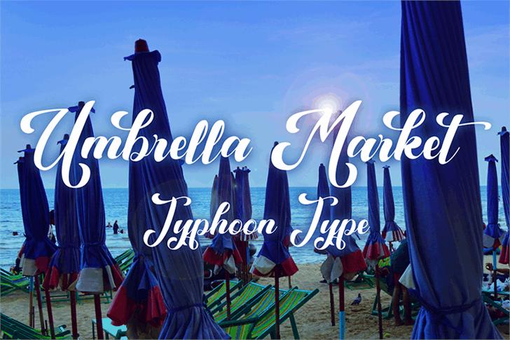 Umbrella Market Font sky text