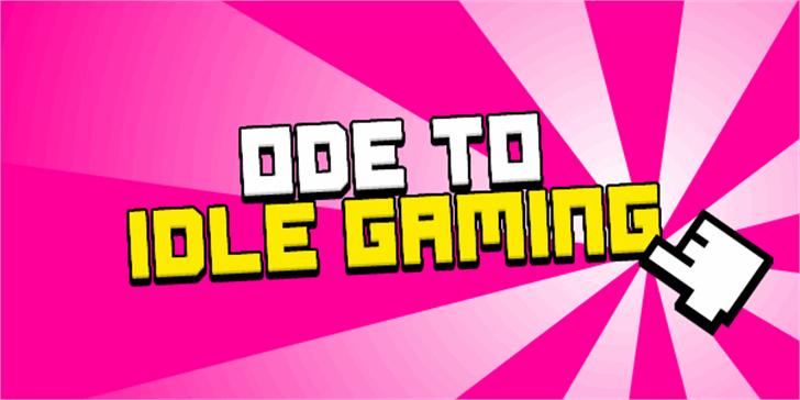 Ode to Idle Gaming Font screenshot cartoon