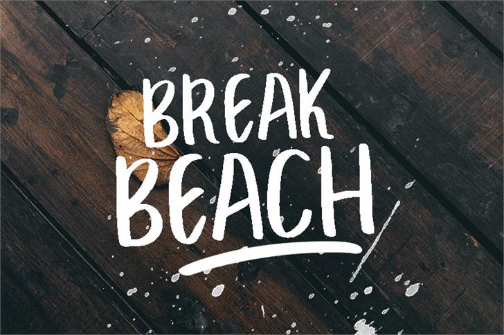 BREAK BEACH Font handwriting sign