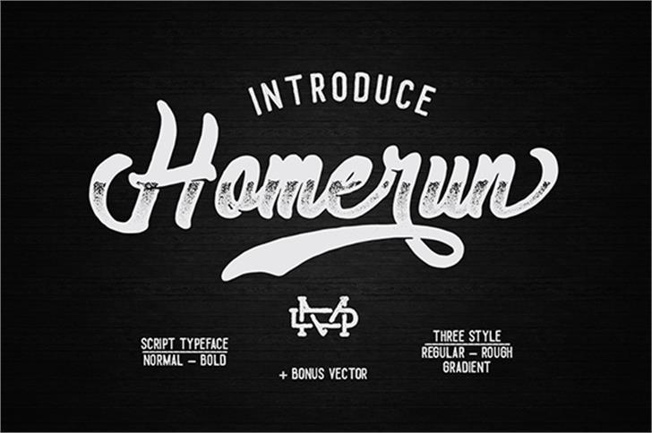 Homerun Font design typography