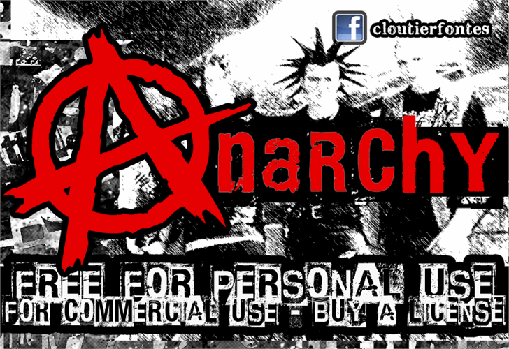 CF Anarchy Font poster text