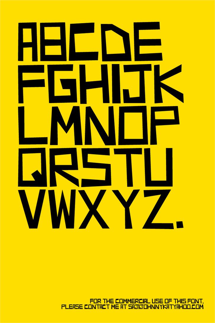 RICHMOND Font poster design