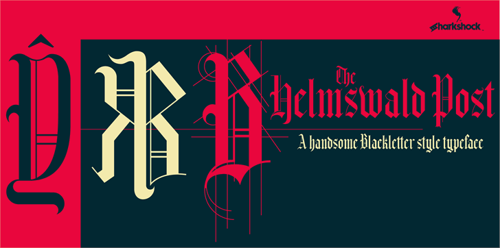 Helmswald Post Font design graphic