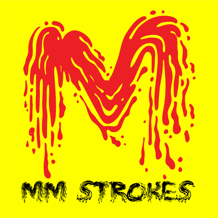 MM STROKES Font poster