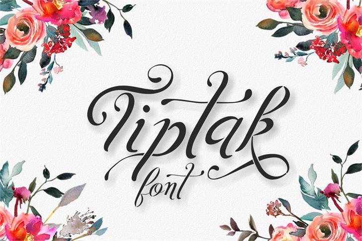 Tiptak Font design cartoon