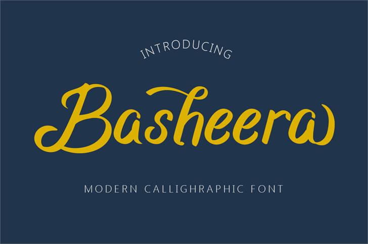 Basheera Font screenshot design