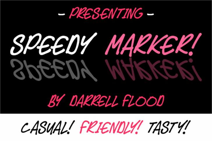 Speedy Marker Font design poster