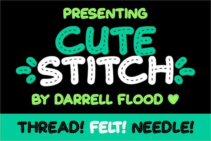 Cute Stitch Font screenshot text