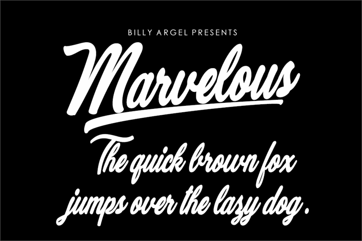 Marvelous Personal Use Font design typography