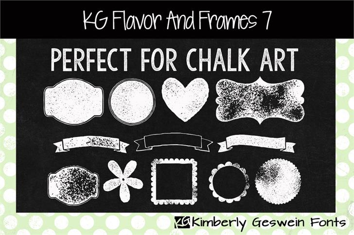 KG Flavor And Frames Seven font by Kimberly Geswein