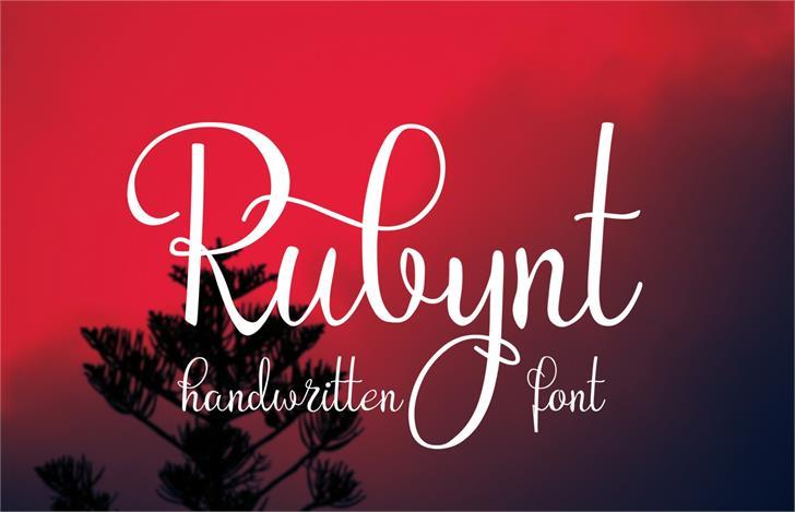 Rubynt Font design text