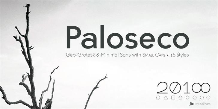 Paloseco Light font by deFharo