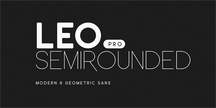 Leo SemiRounded Font poster