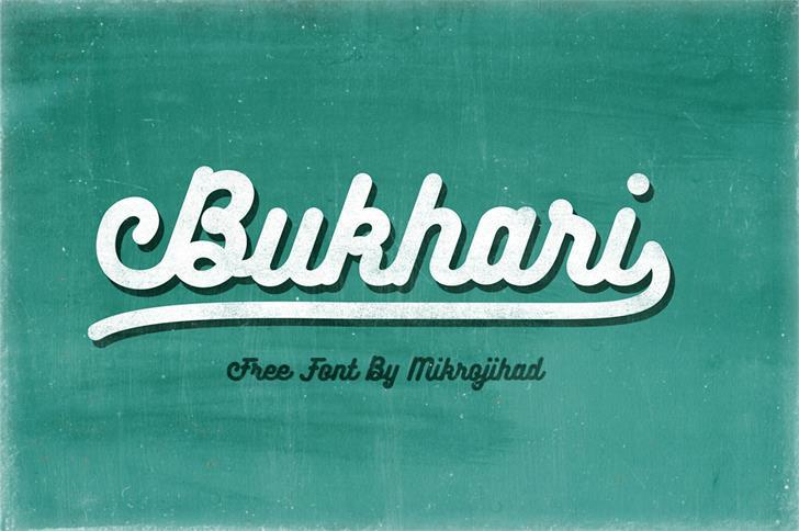 Bukhari Script Font green typography