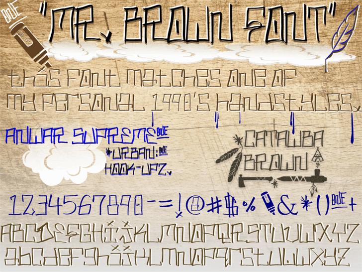 MR. BROWN - Urban Hook-Upz Font handwriting text