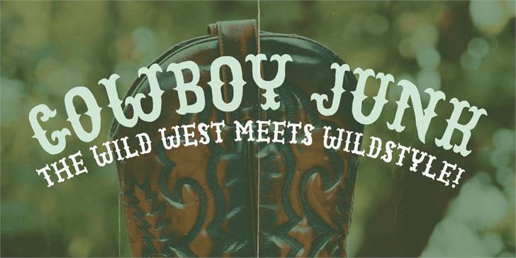 Cowboy Junk DEMO Font poster book
