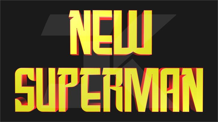 New SuperMan Font poster design