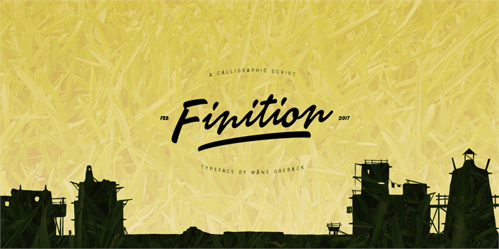Finition PERSONAL USE ONLY Font handwriting poster