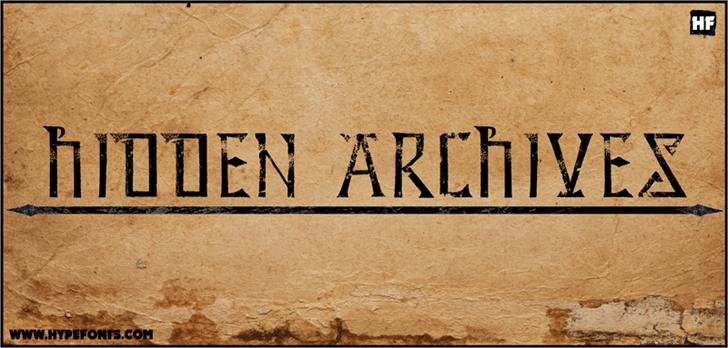 Hidden Archives Font handwriting text