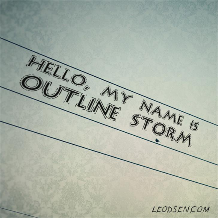 OutlineStorm Font handwriting text