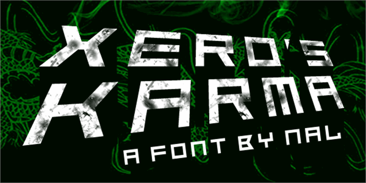 Xero's Karma font by Chequered Ink