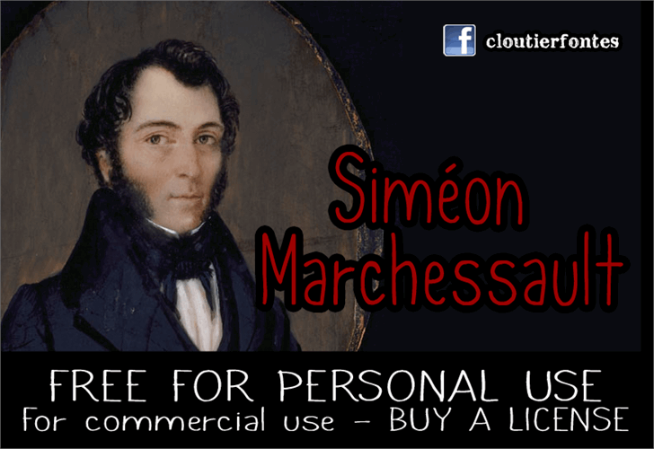 CF Simon Marchessault Font screenshot human face